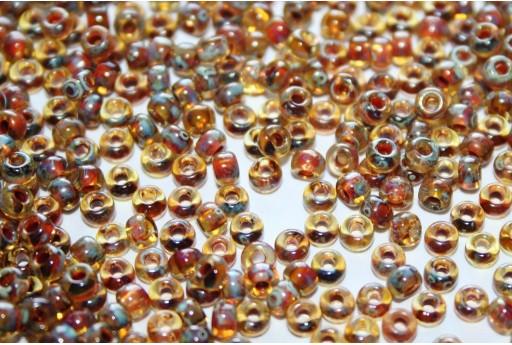 Rocailles Miyuki Seed Beads Picasso Transparent Saffron 8/0 - 10gr