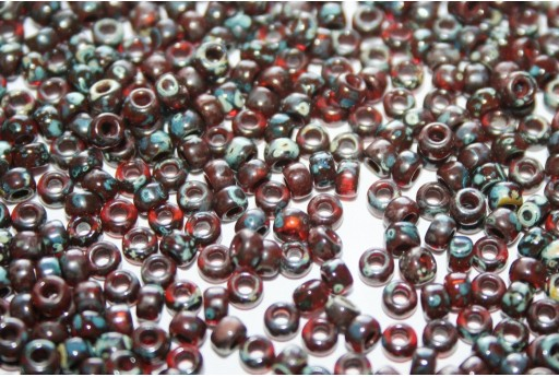 Rocailles Miyuki Picasso Transparent Red Brown 8/0 - 10gr