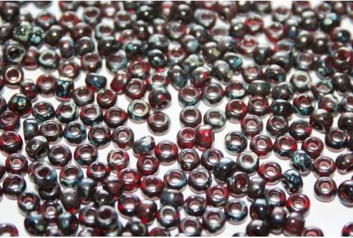 Rocailles Miyuki Picasso Transparent Garnet 8/0 - 10gr