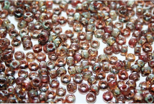 Rocailles Miyuki Seed Beads Picasso Transparent Light Smoky Topaz 8/0 - 10gr