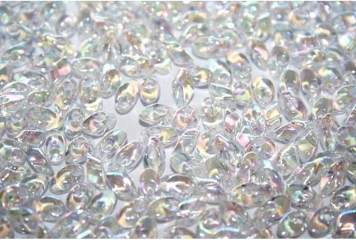 Miyuki Long Magatama Beads Crystal AB 4x7mm - 10gr