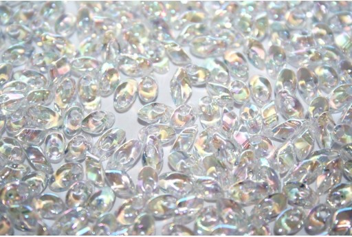 Miyuki Long Magatama Beads Crystal AB 4x7mm - Pack 100gr