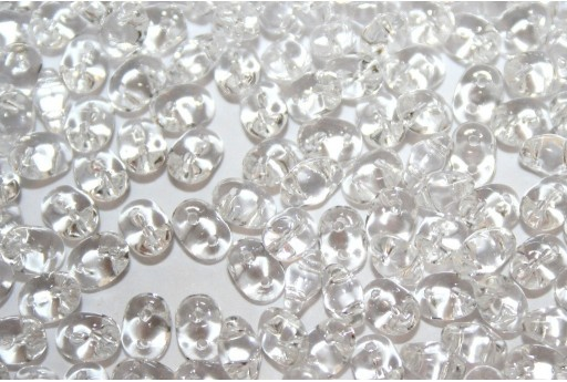 Superduo Beads Crystal 5x2,5mm - Pack 50gr