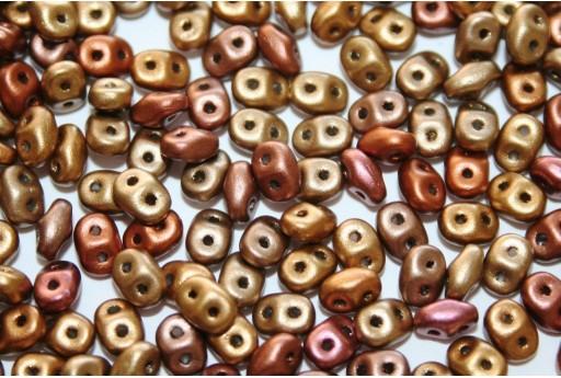 Superduo Beads Bronze Rainbow A 5x2,5mm - Pack 50gr