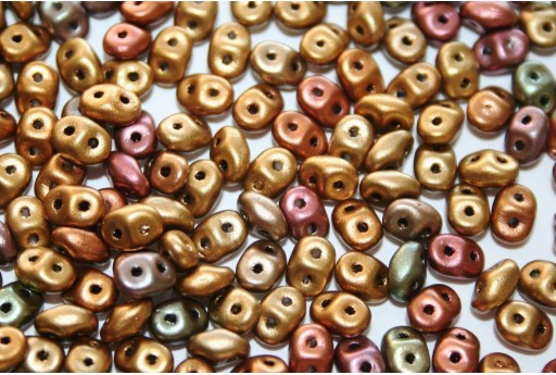 Superduo Beads Bronze Rainbow B 5x2,5mm - Pack 50gr