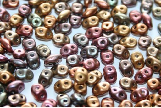 Superduo Beads Bronze Rainbow C 5x2,5mm - Pack 50gr