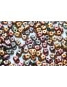 Superduo Beads Bronze Rainbow C 5x2,5mm - Pack 50gr