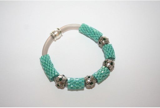 Caucciù Hexagon Bracelet Kit Inside Color Aqua