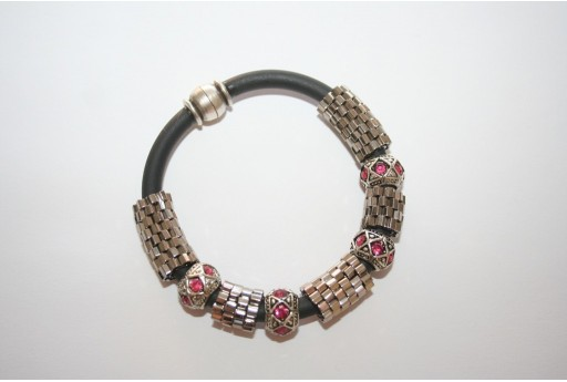 Kit Bracciale Caucciù Hexagon Toho Nickel