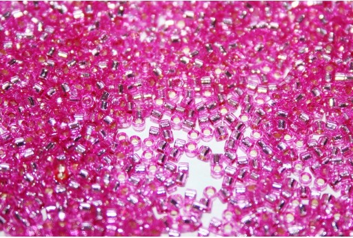 Miyuki Delica Beads Duracoat Silver Lined Dyed Pink Parfait 11/0 - Pack 50gr