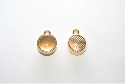Gold Pendant Setting for Chaton SS39 10,5x14mm - 2pcs