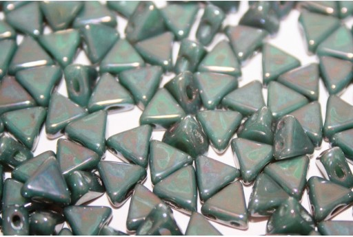 Khéops® Par Puca® Beads Opaque Green Turquoise Nebula 6mm - Pack 50gr