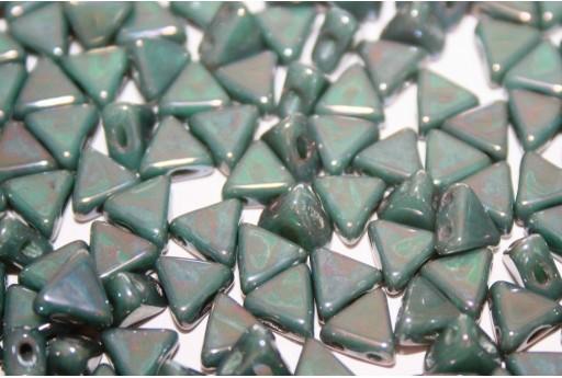 Perline Khéops® Par Puca® Opaque Green Turquoise Nebula 6mm - 100gr