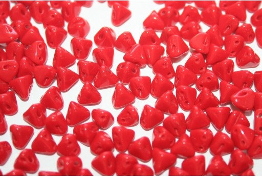 Perline Super-Khéops® Par Puca® Opaque Coral Red 6mm - 10gr