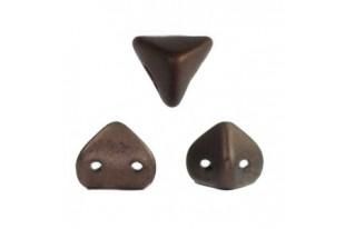 Super-Khéops® Par Puca® Beads Dark Bronze Mat 6mm - Pack 50gr