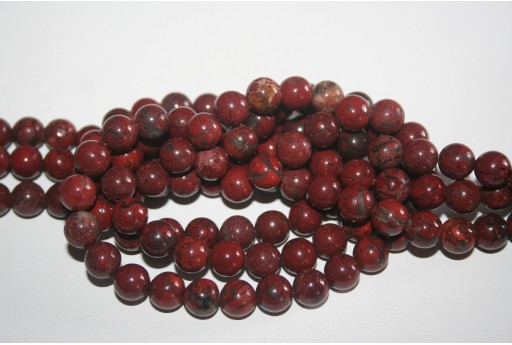 Jasper Beads Fantasy Brick-colored Sphere 8mm - 48pz