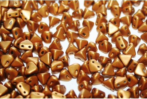Super-Khéops® Par Puca® Beads Bronze Gold Mat 6mm - Pack 50gr