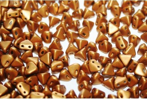Super-Khéops® Par Puca® Beads Bronze Gold Mat 6mm - Pack 100gr