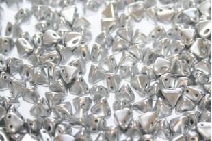 Super-Khéops® Par Puca® Beads Silver Alluminum Mat 6mm - Pack 50gr