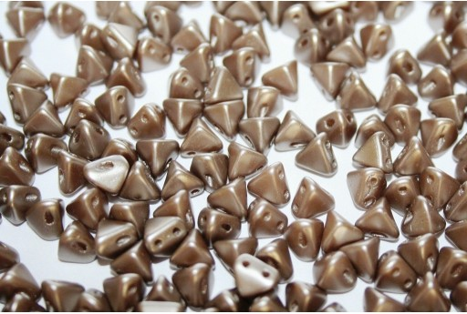 Super-Khéops® Par Puca® Beads Pastel Light Brown Coco 6mm - Pack 50gr
