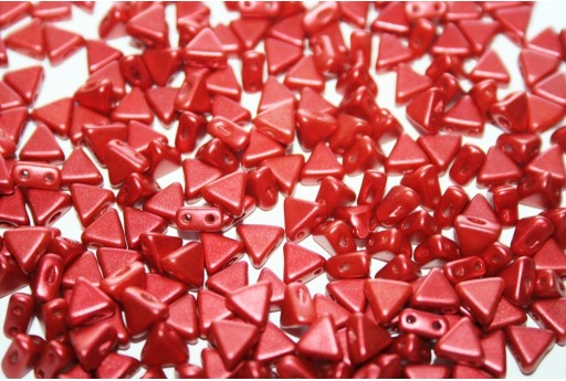 Khéops® Par Puca® Beads Red Metallic Mat 6mm - 10gr