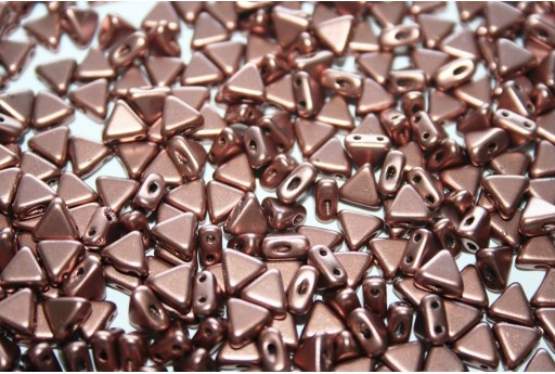 Khéops® Par Puca® Beads Copper Gold Mat 6mm - 10gr