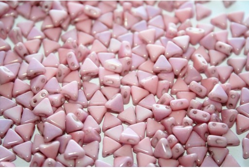 Khéops® Par Puca® Beads Opaque Light Rose Ceramic Look 6mm - 10gr