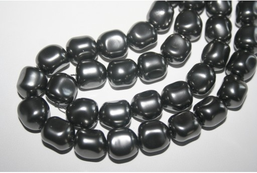 Swarovski Pearl Dark Grey 14mm 5840 617