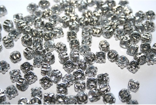 Acrylic Rhinestone Montee Beads Crystal 5mm - 30pcs