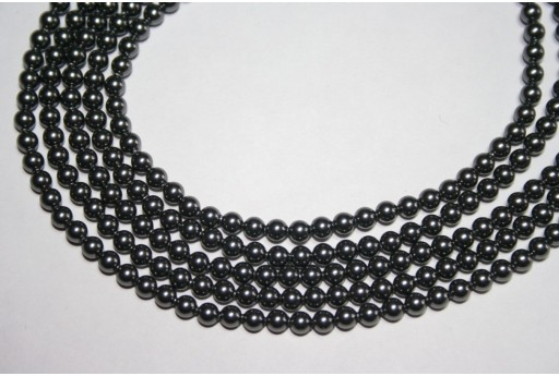 Perle Swarovski Dark Grey 5810 4mm - 20pz