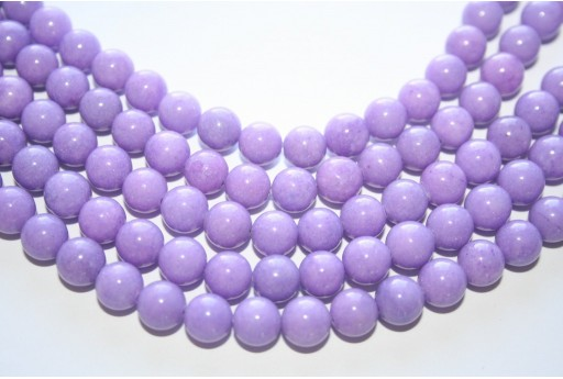 Mashan Jade Beads Lavender Sphere 8mm - 48pcs