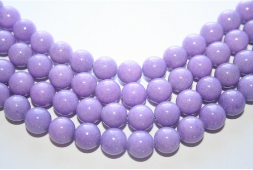 Mashan Jade Beads Lavender Sphere 10mm - 39pcs