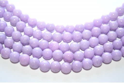 Mashan Jade Beads Lilac Sphere 8mm - 48pcs