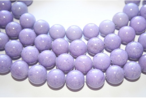 Mashan Jade Beads Lavender Sphere 12mm - 32pcs