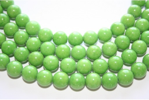 Mashan Jade Beads Green Sphere 10mm - 40pcs