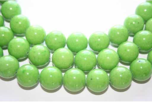 Mashan Jade Beads Green Sphere 14mm - 29pcs