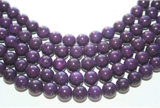 Mashan Jade Beads Purple Sphere 8mm - 48pcs