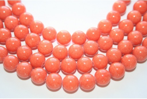 Mashan Jade Beads Orange Sphere 10mm - 40pcs