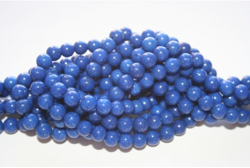 Mashan Jade Beads Blue Navy Sphere 6mm - 66pcs