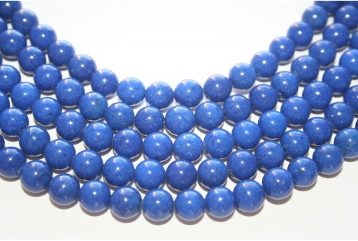 Mashan Jade Beads Blue Navy Sphere 8mm - 48pcs