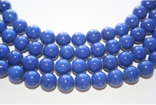 Mashan Jade Beads Blue Navy Sphere 10mm - 40pcs