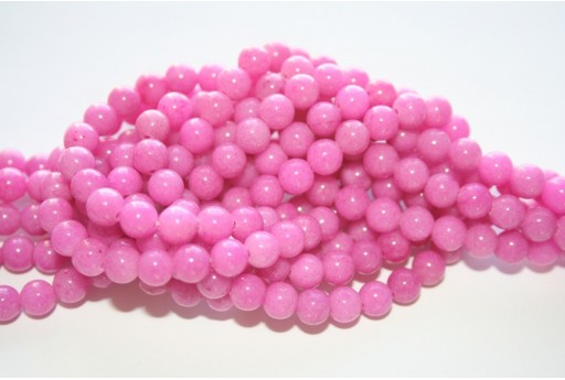 Mashan Jade Beads Dark Pink Sphere 6mm - 66pcs