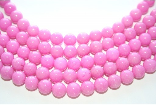 Mashan Jade Beads Dark Pink Sphere 8mm - 48pcs