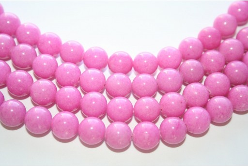 Mashan Jade Beads Dark Pink Sphere 10mm - 40pcs