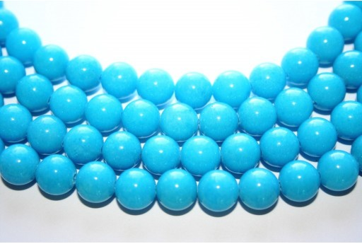 Mashan Jade Beads Light Blue Sphere 10mm - 40pcs