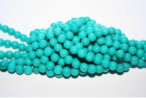 Mashan Jade Beads Turquoise Sphere 6mm - 66pcs