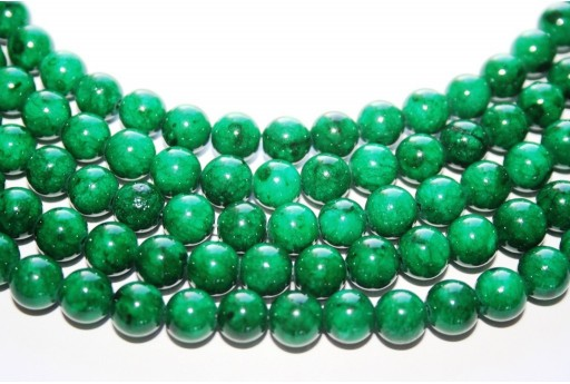 Mashan Jade Beads Dark Green Sphere 8mm - 48pcs