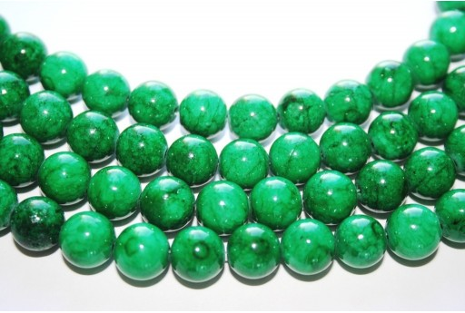 Mashan Jade Beads Dark Green Sphere 10mm - 40pcs