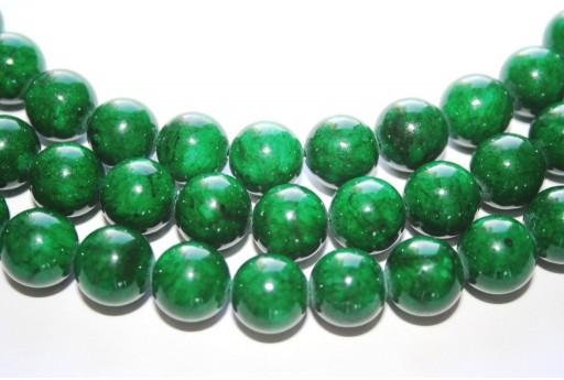 Pietre Dure Giada Mashan Verde Scuro Sfera 12mm - 33pz.