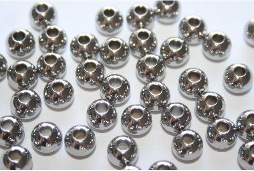 Stainless Steel Spacer Beads Sphere 6mm - 8pcs
